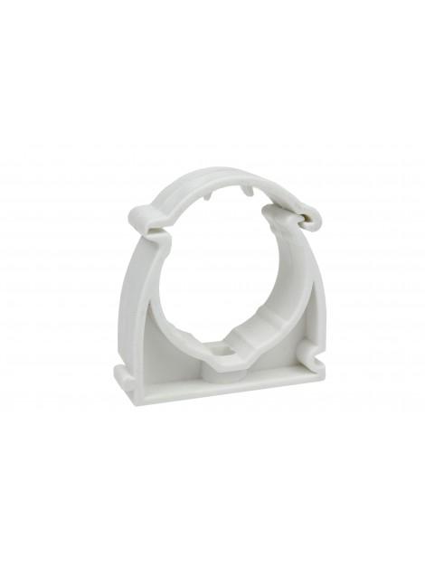 Uchwyt zamykany do rur PVC 22 biały (opakowanie 100 sztuk) Elcom