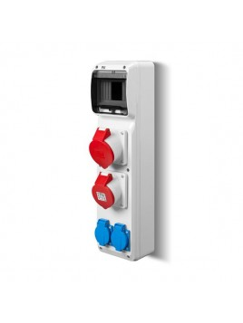 Rozdzielnica siłowa RS natynkowa 6-modułowa 2x230V 1x16A/5P 1x32A/5P 6240-00 Elektro-Plast