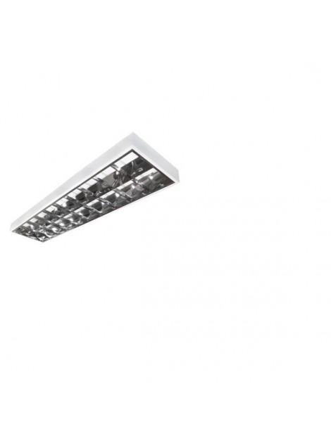 Oprawa rastrowa RES 2x36W natynkowa Kafler Empty do świetlówek LED zasilanych uniwersalnie: 1- lub 2-stronnie Bemko