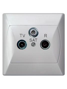 Gniazdo antenowe RTV-SAT białe GPA-AS/00 Akcent Ospel