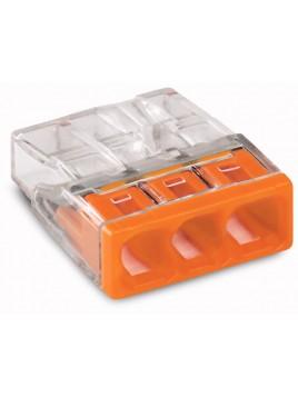 Złączka instalacyjna 3x Compact pomarańczowa 2273-203 Wago
