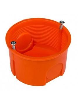 Puszka podtynkowa 60 zwykła płytka z wkrętami 0281-01 pomarańczowa Elektro-Plast