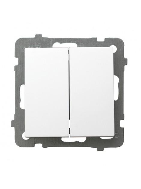 Łącznik podwójny biały ŁP-2G/m/00 As Ospel