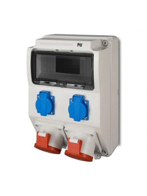 Rozdzielnica siłowa RS natynkowa 9-modułowa 2x230V 2x32A/5P 6222-00 Elektro-Plast