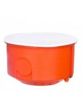 Puszka podtynkowa 80 z pokrywą 0283-00 pomarańczowa Elektro-Plast