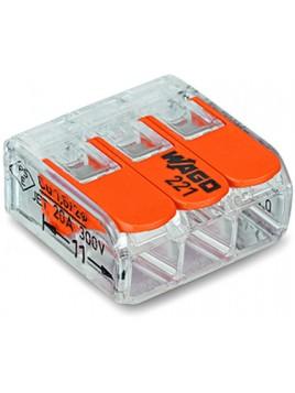 Złączka instalacyjna 3x uniwersalna Compact 221-413 Wago