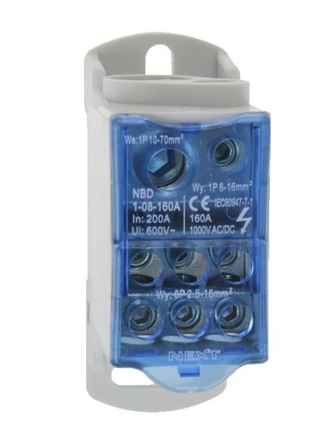 Modułowy blok rozdzielczy 160A NBD1-08-160 Next