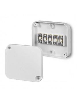 Puszka natynkowa telefoniczna IP20 89x79x25 z wkładem 5x2,5 biała 0225-00 Elektro-Plast