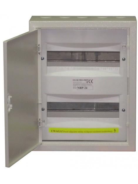 Rozdzielnica bezpiecznikowa 2x12 metalowa z zamkiem NRP 24z Elektro-met