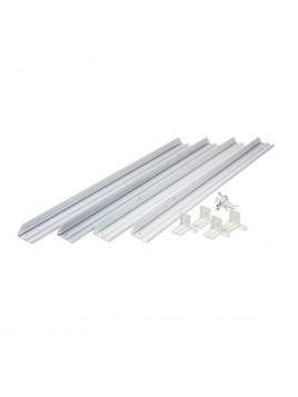 Ramka aluminiowa w kolorze białym do mocowania paneli LED 595x595 natynkowo Lightech