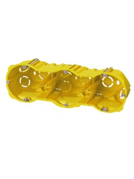 Puszka podtynkowa 60 potrójna do karton-gipsu głęboka 0287-00N żółta Elektro-Plast