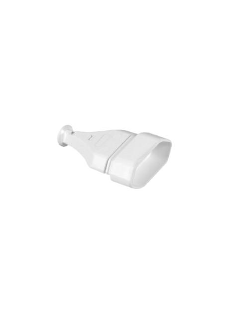 Gniazdo 1-krotne płaskie bez uziemienia GN-11 białe Plast-Rol