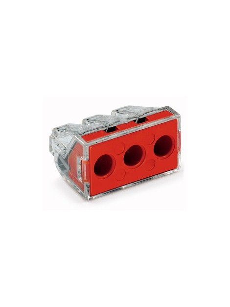 Złączka instalacyjna 3x6mm czerwona 773-173 Wago