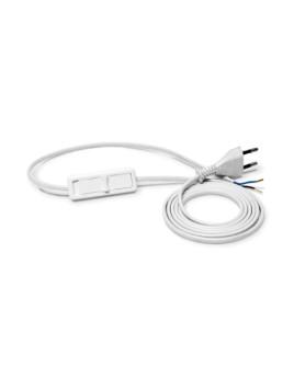 Przewód przyłączeniowy 2x0,5 1,9m z wyłącznikiem PWS-11 biały Plast-Rol