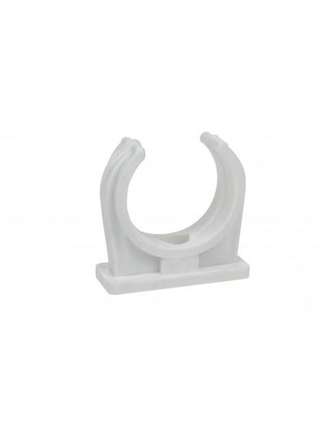 Uchwyt do rur PVC 18 biały Elcom