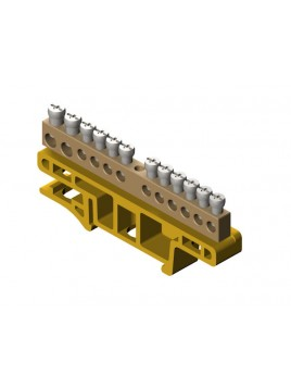 Listwa zaciskowa 12-torowa na szynę TH35 żółta 0921-01 Elektro-Plast
