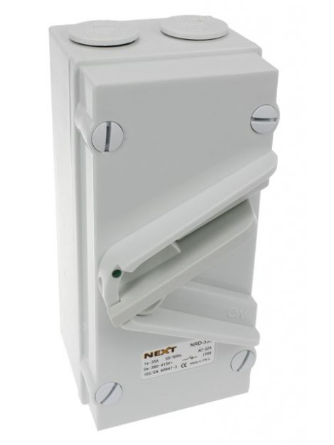 Rozłącznik dźwigniowy 63A 3P w obudowie IP66 NRD-363 Next