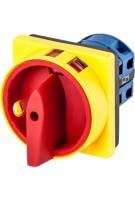 Łącznik krzywkowy 0-1 4P 25A zamykany żółto-czerwony do wbudowania Next