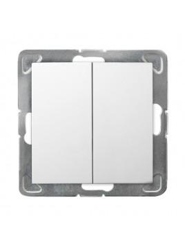 Łącznik schodowy podwójny biały ŁP-10Y/m/00 Impresja Ospel