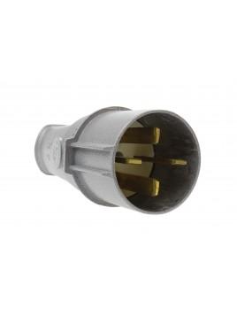 Wtyczka siłowa metalowa płaskie wtyki 63A 4P 500V WSE