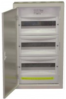 Rozdzielnica bezpiecznikowa 3x12 metalowa z zamkiem NRP 36z Elektro-met