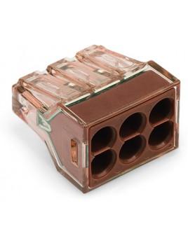 Złączka instalacyjna 6x4mm brązowa 773-606 Wago