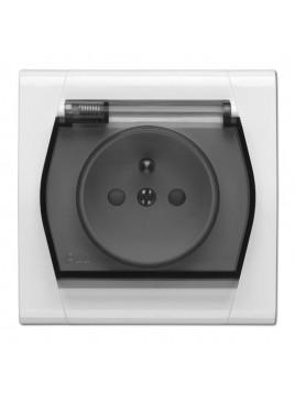 Gniazdo pojedyncze hermetyczne IP44 białe 0873-10 Festa Elektro-Plast