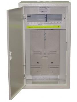 Rozdzielnica licznikowa natynkowa NRL 3F 12 z zamkiem i szybą Elektro-met