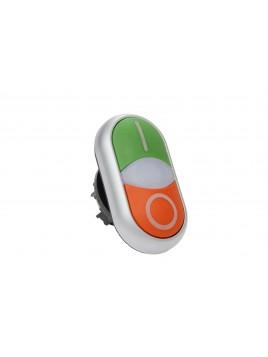 Napęd przycisku podwójnego zielony, czerwony M22-DDL-GR-X1/X0 216700 Eaton Electric