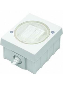 Łącznik podwójny natynkowy hermetyczny IP44 WH-2 biały Polmark