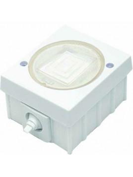 Łącznik pojedynczy natynkowy hermetyczny IP44 WH-1 biały Polmark
