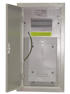 Rozdzielnica licznikowa natynkowa NRL-1F6 wąska z zamkiem Elektro-met