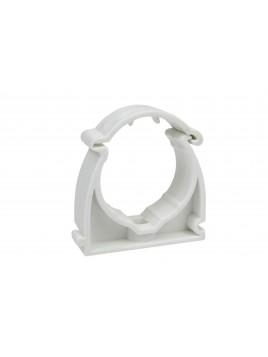 Uchwyt zamykany do rur PVC 18 biały (opakowanie 100 sztuk) Elcom