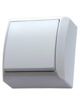 Łącznik pojedynczy natynkowy IP20 biały ŁN-1B/00 Bis Ospel