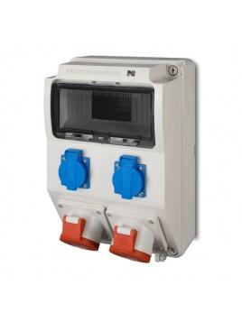 Rozdzielnica siłowa RS natynkowa 9-modułowa 2x230V 2x16A/5P 6221-00 Elektro-Plast