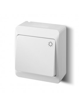 Łącznik zwierny światło natynkowy IP44 biały 0336-02 Hermes Elektro-Plast