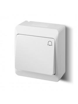 Łącznik zwierny dzwonek natynkowy IP44 biały 0337-02 Hermes Elektro-Plast