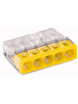 Złączka instalacyjna 5x Compact żółta 2273-205 Wago