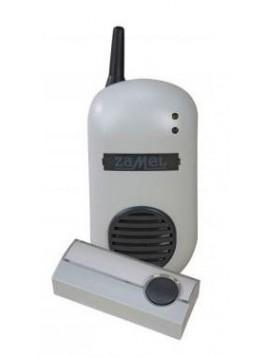 Dzwonek bezprzewodowy BULIK szary do gniazdka 230V zestaw z przyciskiem hermetycznym DRS-982K Zamel