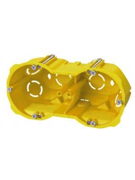 Puszka podtynkowa 60 podwójna do karton-gipsu głęboka 0286-00N żółta Elektro-Plast
