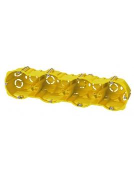 Puszka podtynkowa 60 poczwórna do karton-gipsu głęboka 0288-00N żółta Elektro-Plast