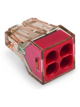 Złączka instalacyjna 4x4mm czerwona 773-604 Wago