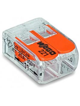 Złączka instalacyjna 2x uniwersalna Compact 221-412 Wago