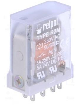 Przekaźnik przemysłowy 2 styki 5A 230V AC R2M-2012-23-5230 802541 Relpol