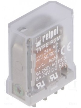 Przekaźnik przemysłowy 2 styki 5A 24V AC R2M-2012-23-5024 620485 Relpol
