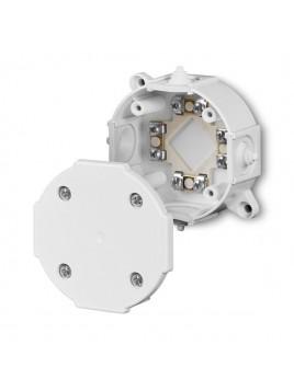 Puszka natynkowa hermetyczna IP41 okrągła 80x34 z wkładem 4x2,5 biała 0212-00 Elektro-Plast