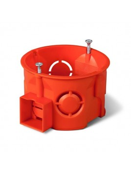 Puszka podtynkowa 60 łączona płytka z wkrętami 0284-01 pomarańczowa Elektro-Plast