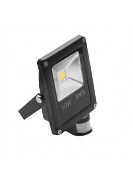 Oprawa LED naświetlacz COB Ecopro 10W z czujnikiem ruchu PIR Black Lightech