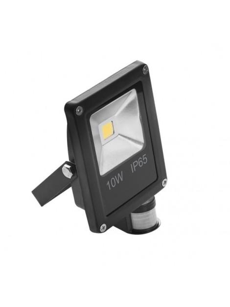 Oprawa LED naświetlacz COB Ecopro 10W z czujnikiem ruchu Black Lightech