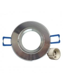 Oprawa GU10 mała okrągła srebrna polerowana Tris